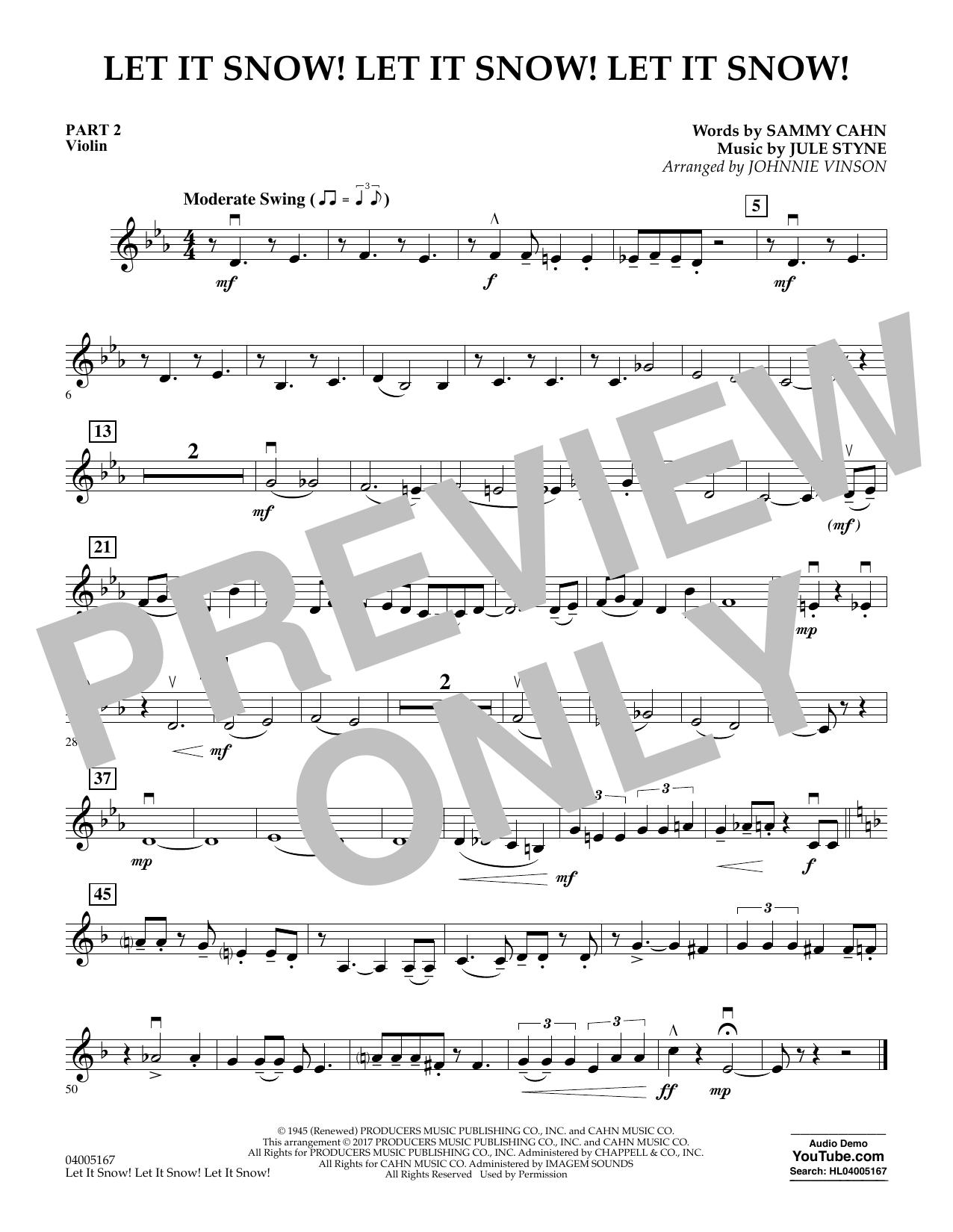 Let It Snow! Let It Snow! Let It Snow! - Pt.2 - Violin (Concert Band)