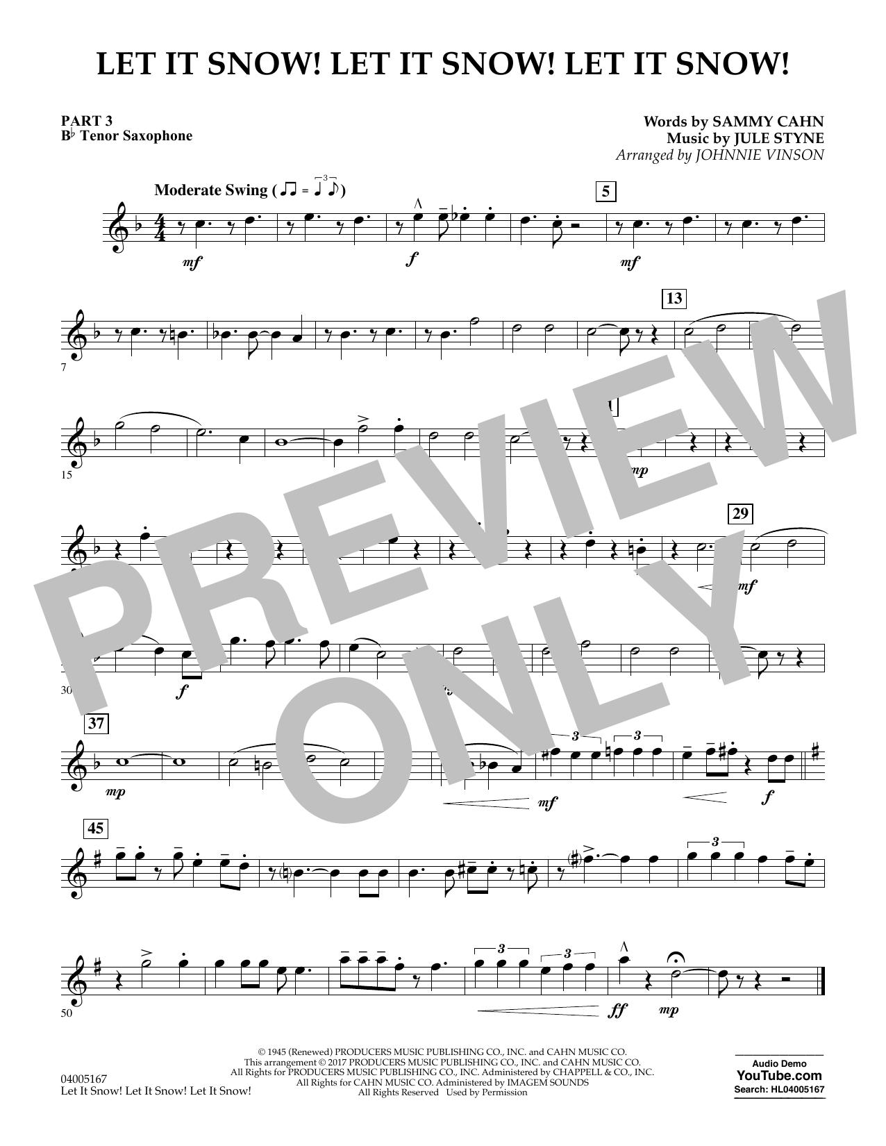 Let It Snow! Let It Snow! Let It Snow! - Pt.3 - Bb Tenor Saxophone (Concert Band)