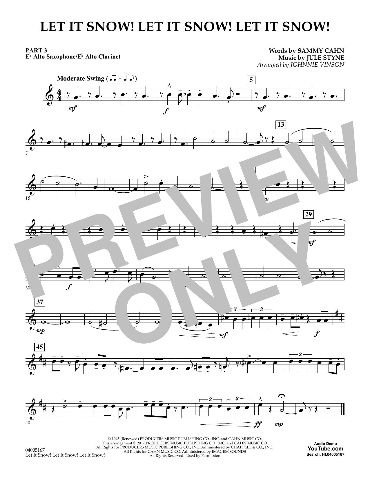 Let It Snow! Let It Snow! Let It Snow! - Pt.3 - Eb Alto Sax/Alto Clar. (Concert Band)