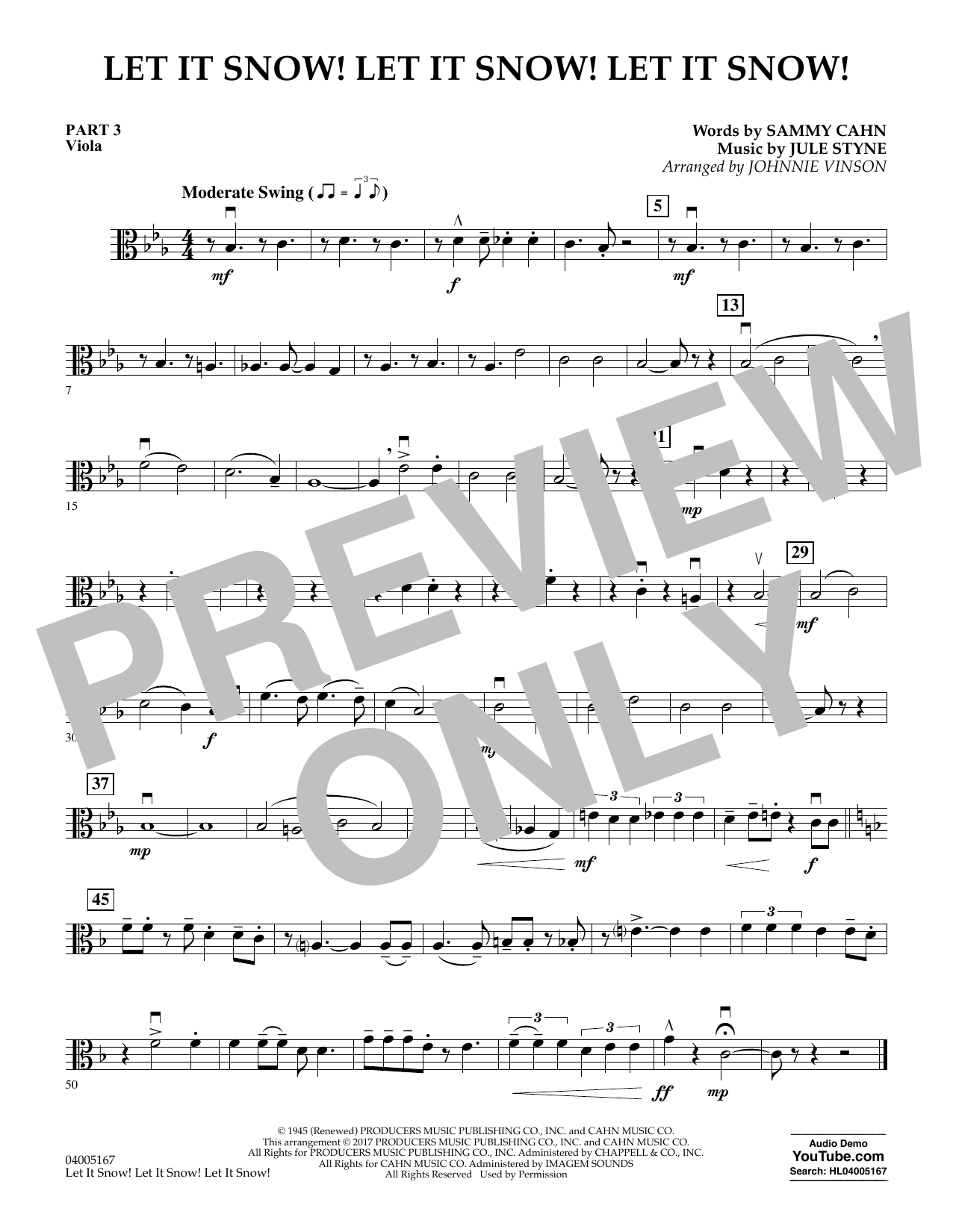 Let It Snow! Let It Snow! Let It Snow! - Pt.3 - Viola (Concert Band)