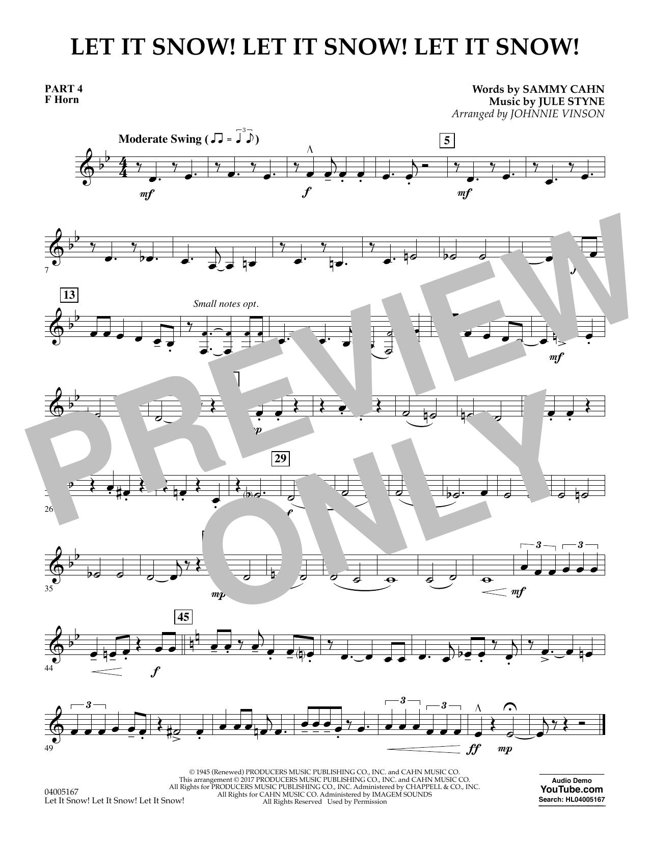 Let It Snow! Let It Snow! Let It Snow! - Pt.4 - F Horn (Concert Band)
