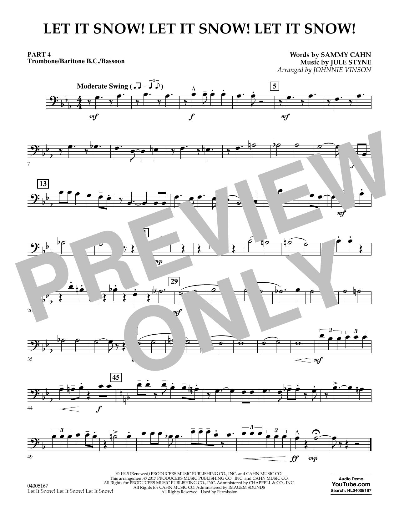 Let It Snow! Let It Snow! Let It Snow! - Pt.4 - Trombone/Bar. B.C./Bsn. (Concert Band)