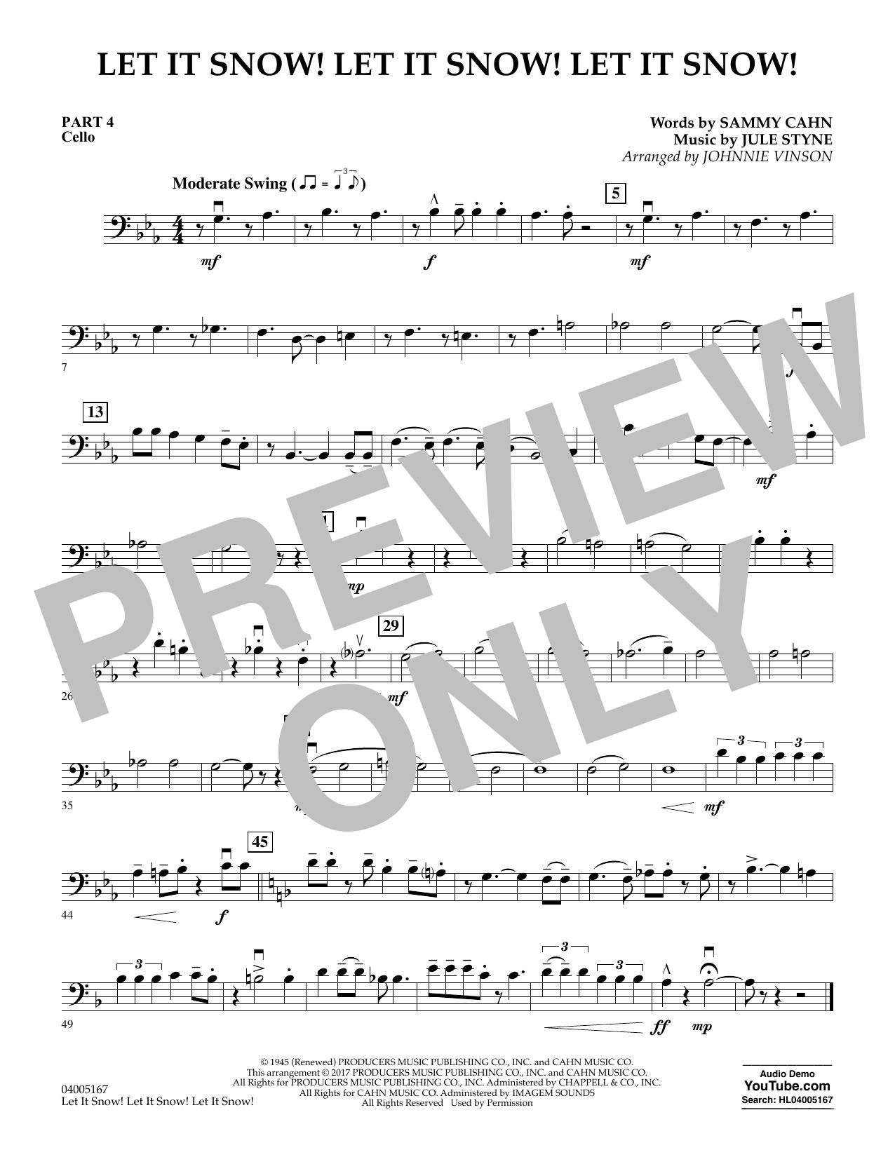 Let It Snow! Let It Snow! Let It Snow! - Pt.4 - Cello (Concert Band)
