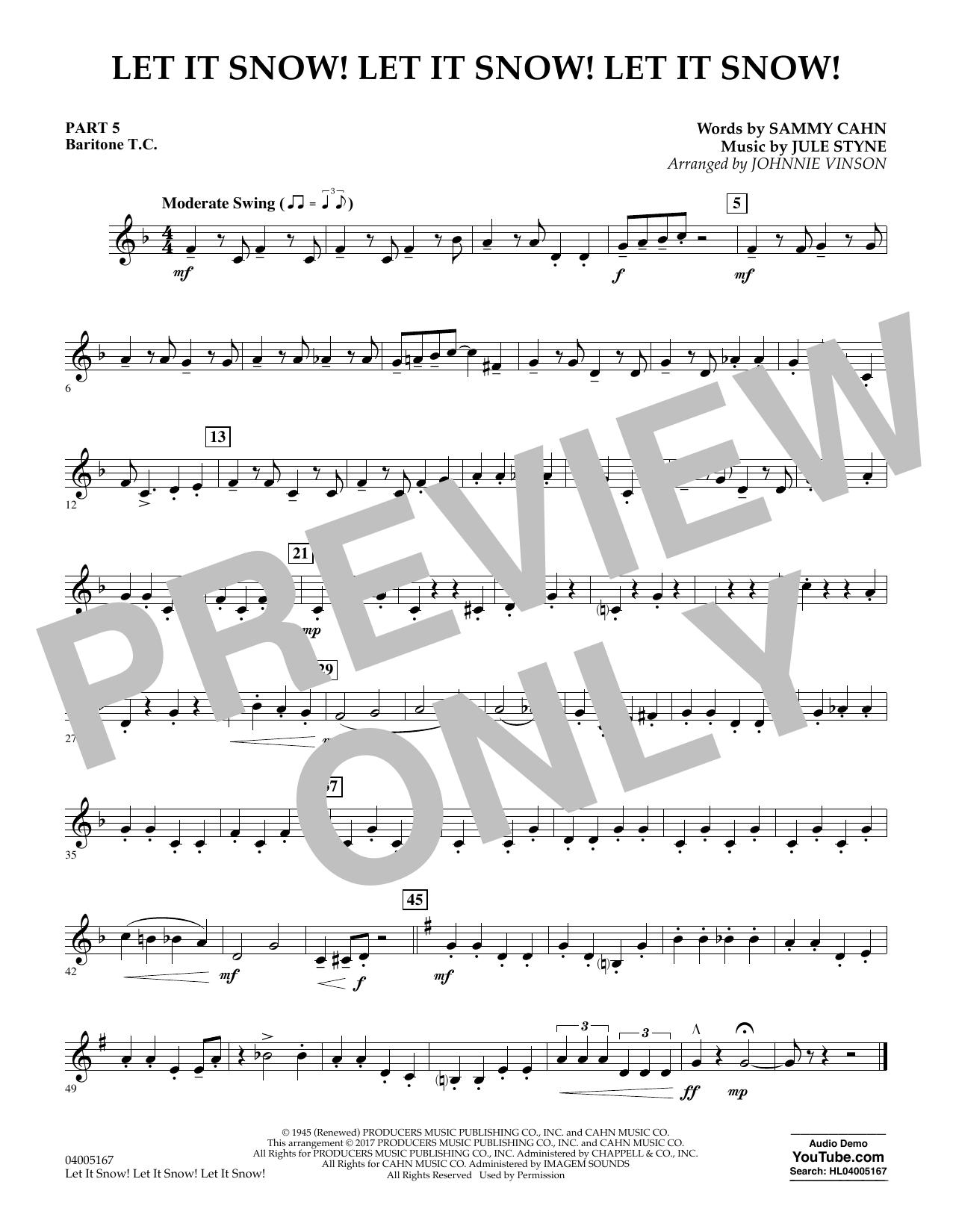 Let It Snow! Let It Snow! Let It Snow! - Pt.5 - Baritone T.C. (Concert Band)