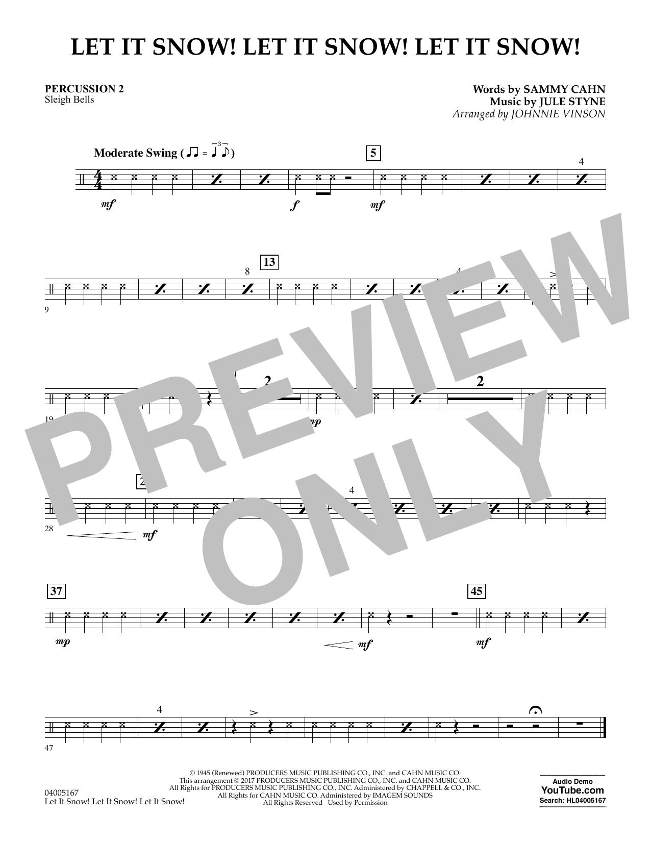 Let It Snow! Let It Snow! Let It Snow! - Percussion 2 (Concert Band)