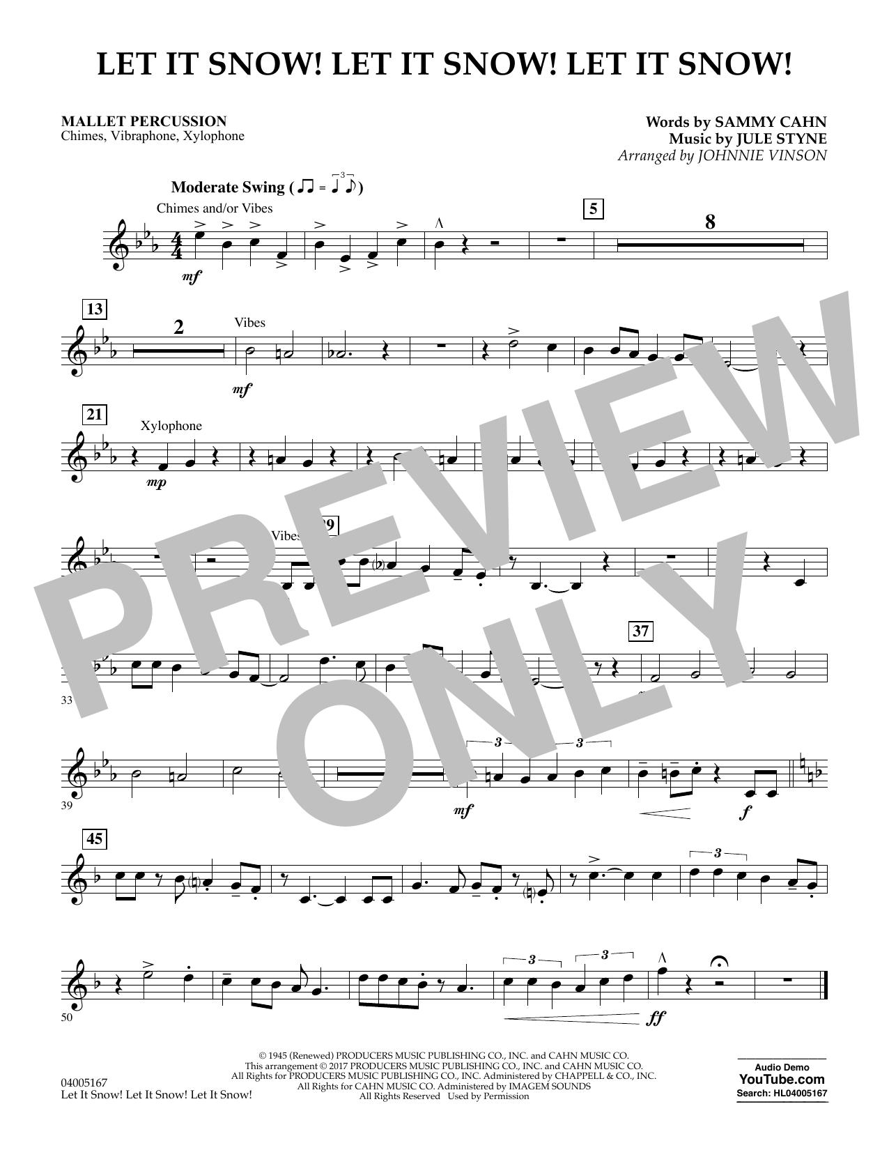 Let It Snow! Let It Snow! Let It Snow! - Mallet Percussion (Concert Band)
