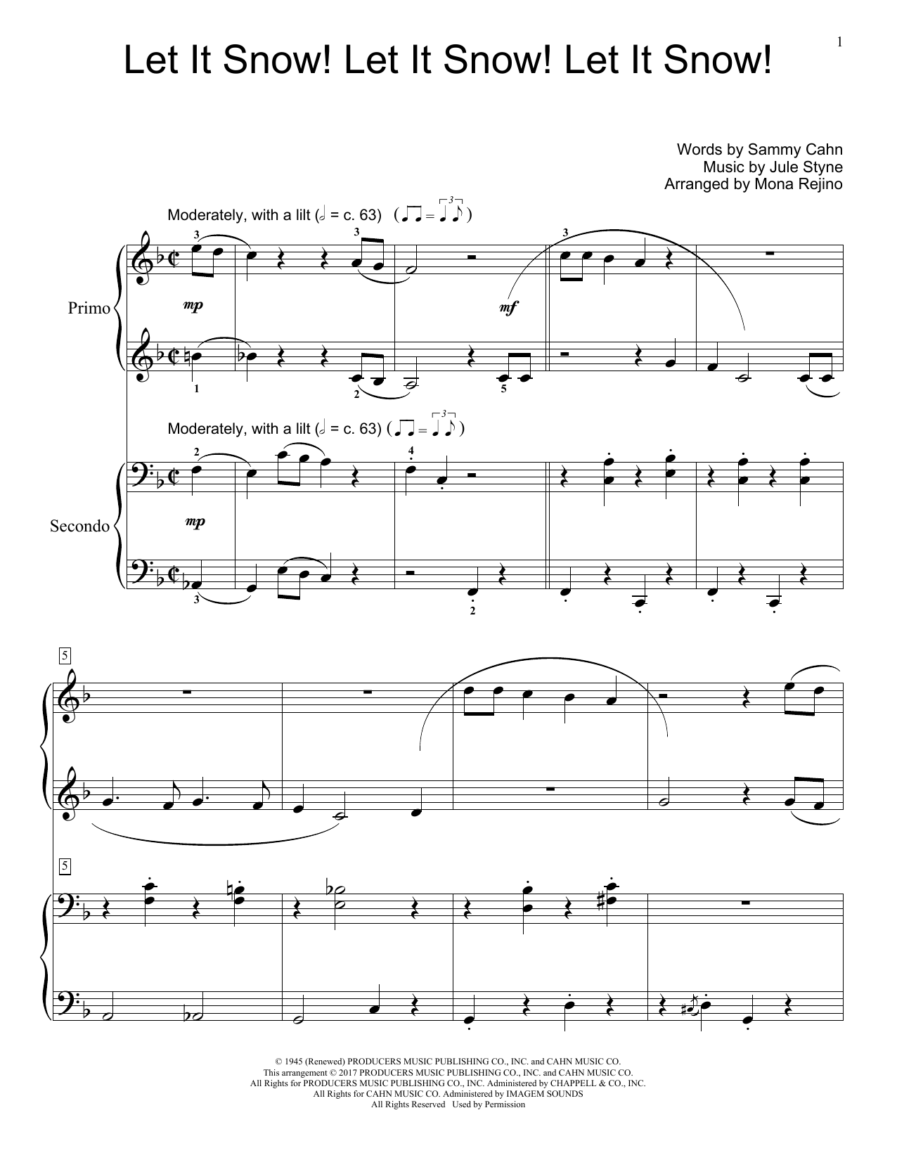 Let It Snow! Let It Snow! Let It Snow! (Piano Duet)