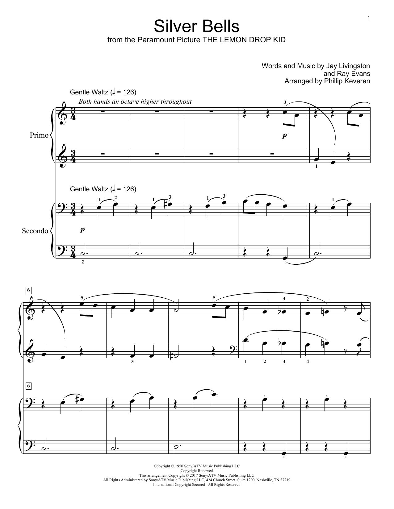 Partition piano Silver Bells de Jay Livingston - 4 mains