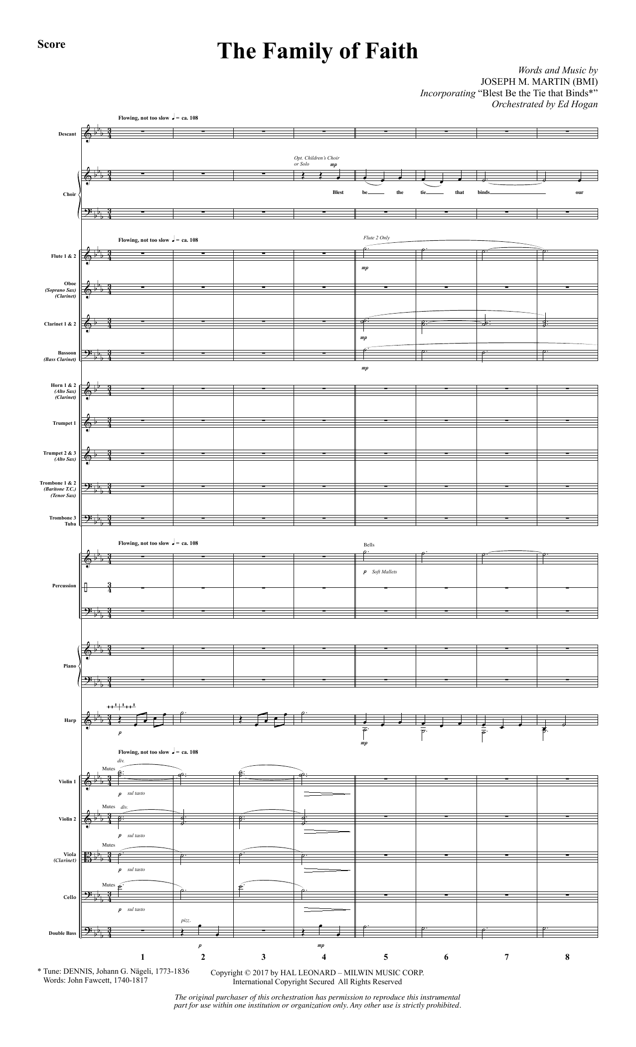 The Family of Faith (COMPLETE) sheet music for orchestra/band by Joseph M. Martin. Score Image Preview.