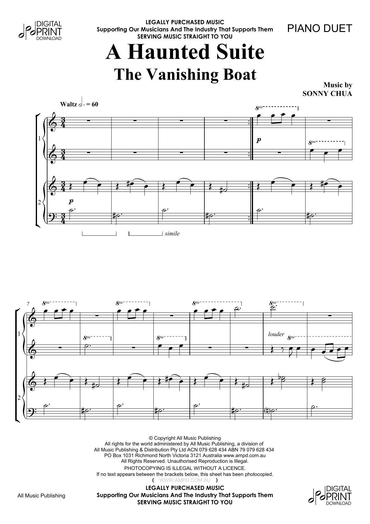 A Haunted Suite - The Vanishing Boat Sheet Music
