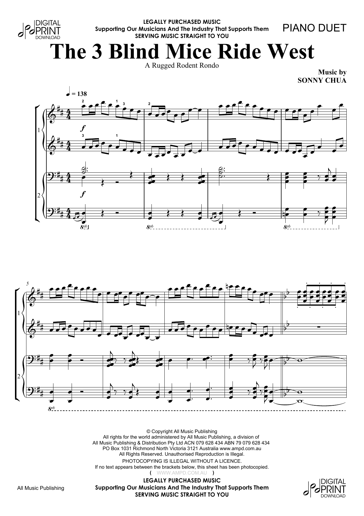 The 3 Blind Mice Ride West (Piano Solo)