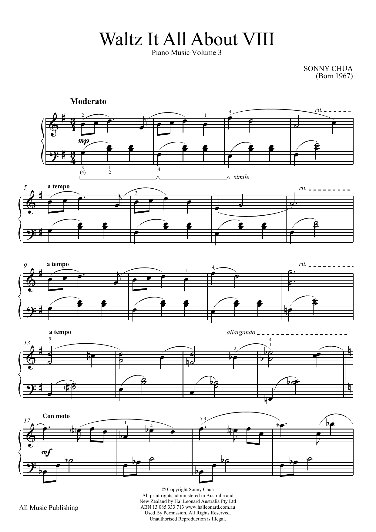 Waltz It All About Viii (From Piano Music Vol 3) Sheet Music