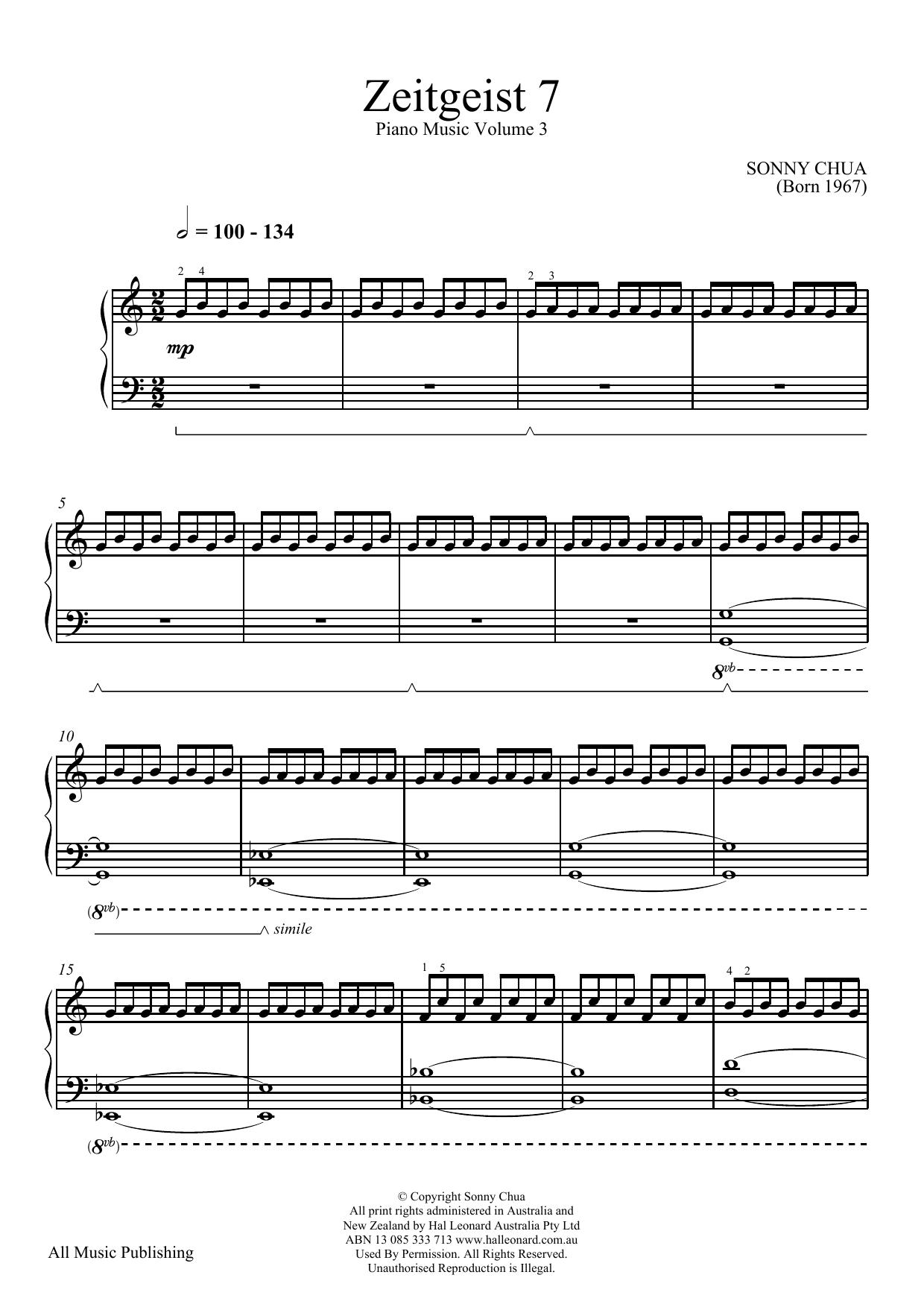 Zeitgeist 7 (From Piano Music Vol 3) (Piano Solo)