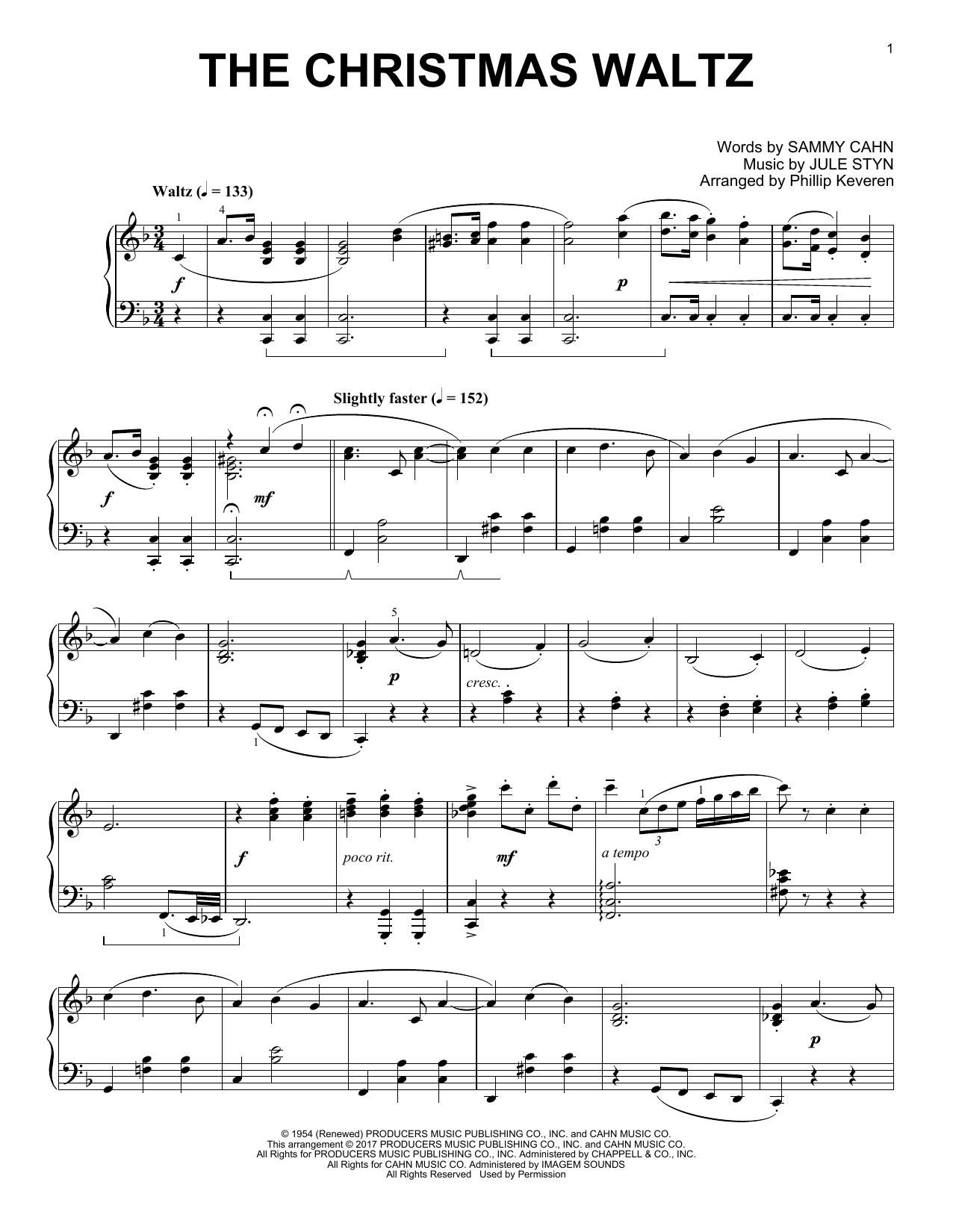 The Christmas Waltz [Classical version] (arr. Phillip Keveren) (Piano Solo)