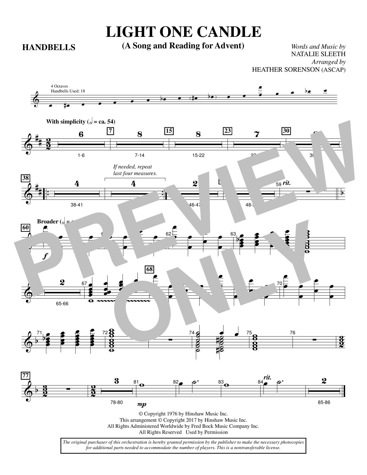 Light One Candle - Handbells (Choir Instrumental Pak)