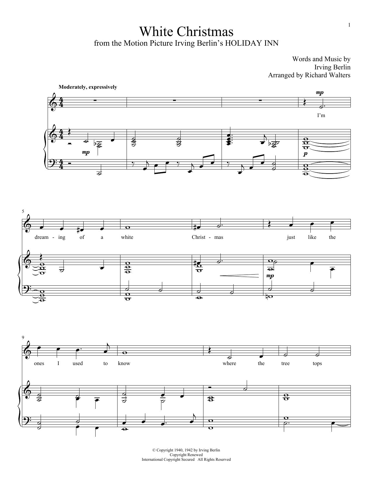 White Christmas by Irving Berlin - Hal Leonard - Prima Music