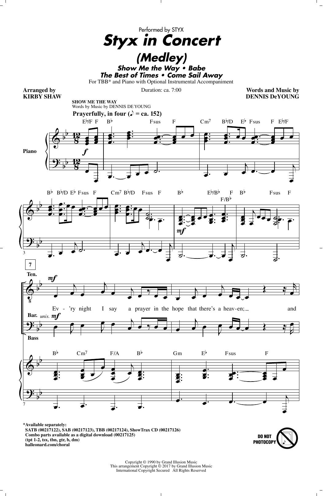 Styx In Concert (Medley) (TBB Choir)