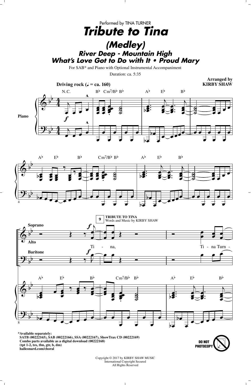 Tribute to Tina (SAB Choir)