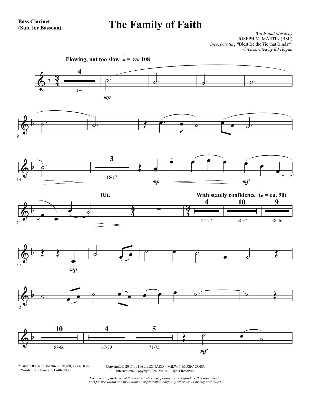 The Family of Faith - Bass Clarinet (sub. Bassoon) (Choir Instrumental Pak)