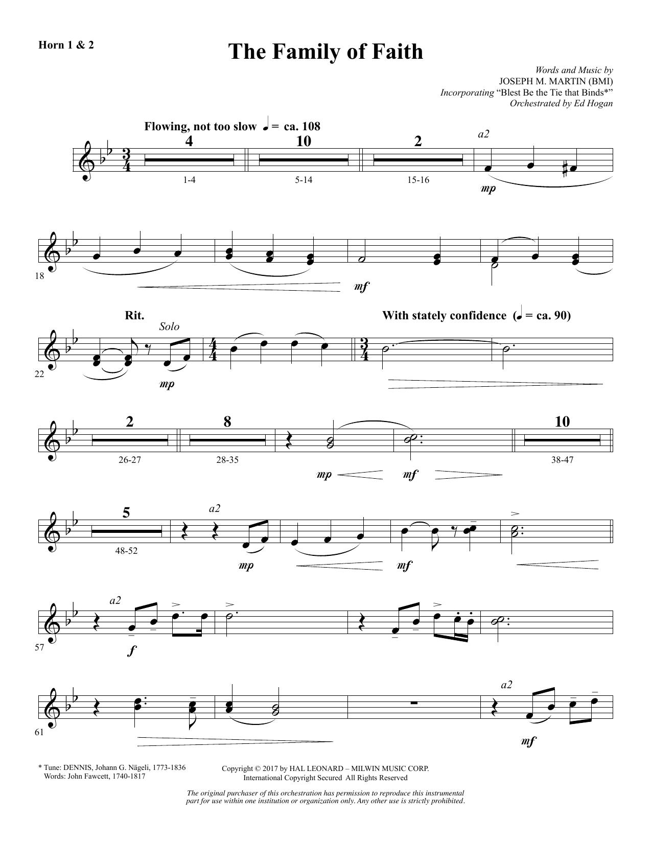 The Family of Faith - F Horn 1 & 2 (Choir Instrumental Pak)