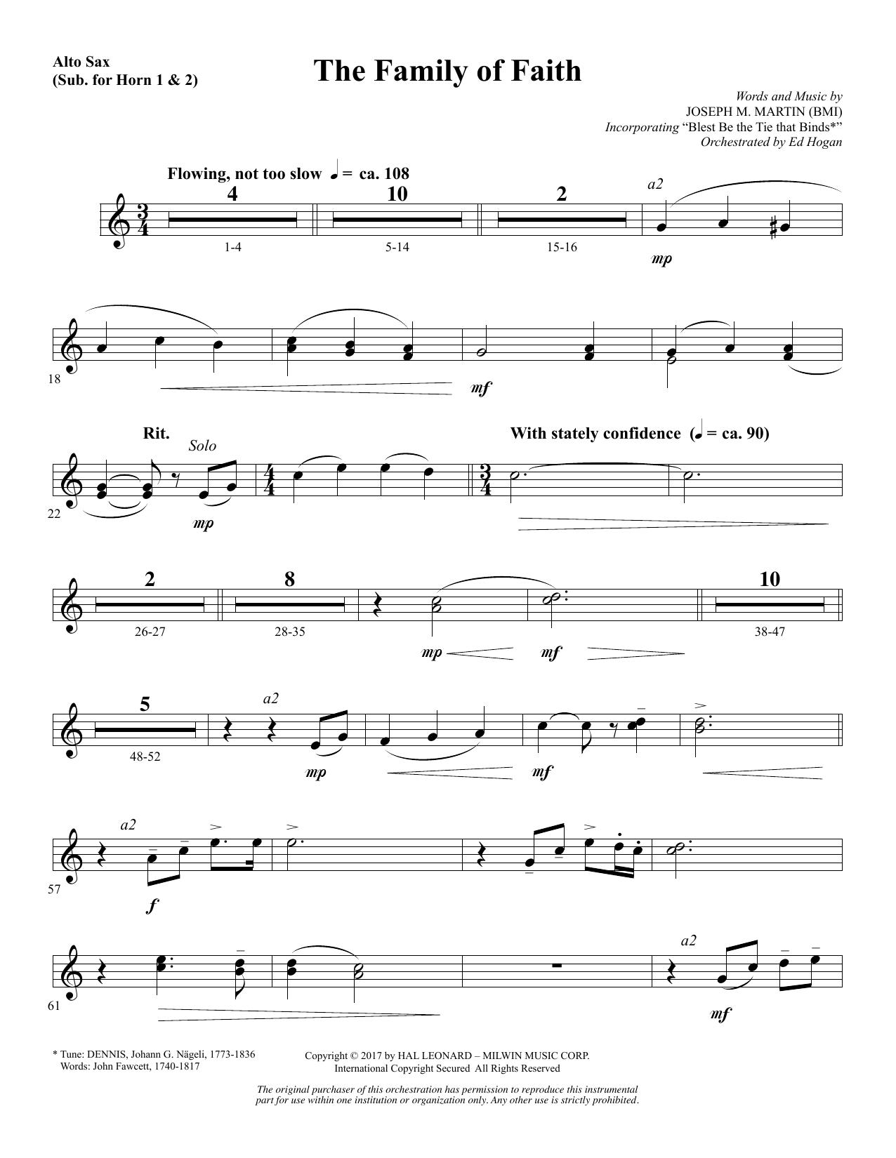 The Family of Faith - Alto Sax 1-2 (sub. Horn 1-2) (Choir Instrumental Pak)