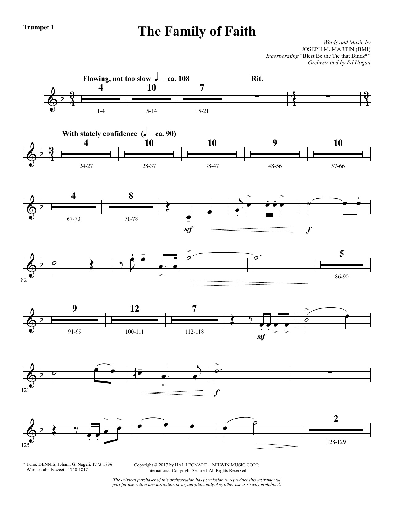 The Family of Faith - Bb Trumpet 1 (Choir Instrumental Pak)