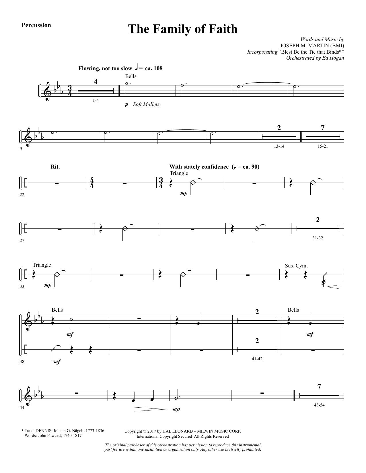 The Family of Faith - Percussion (Choir Instrumental Pak)
