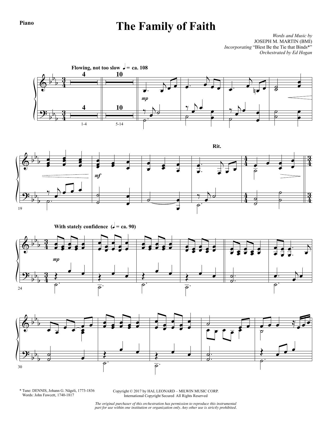 The Family of Faith - Piano (Choir Instrumental Pak)