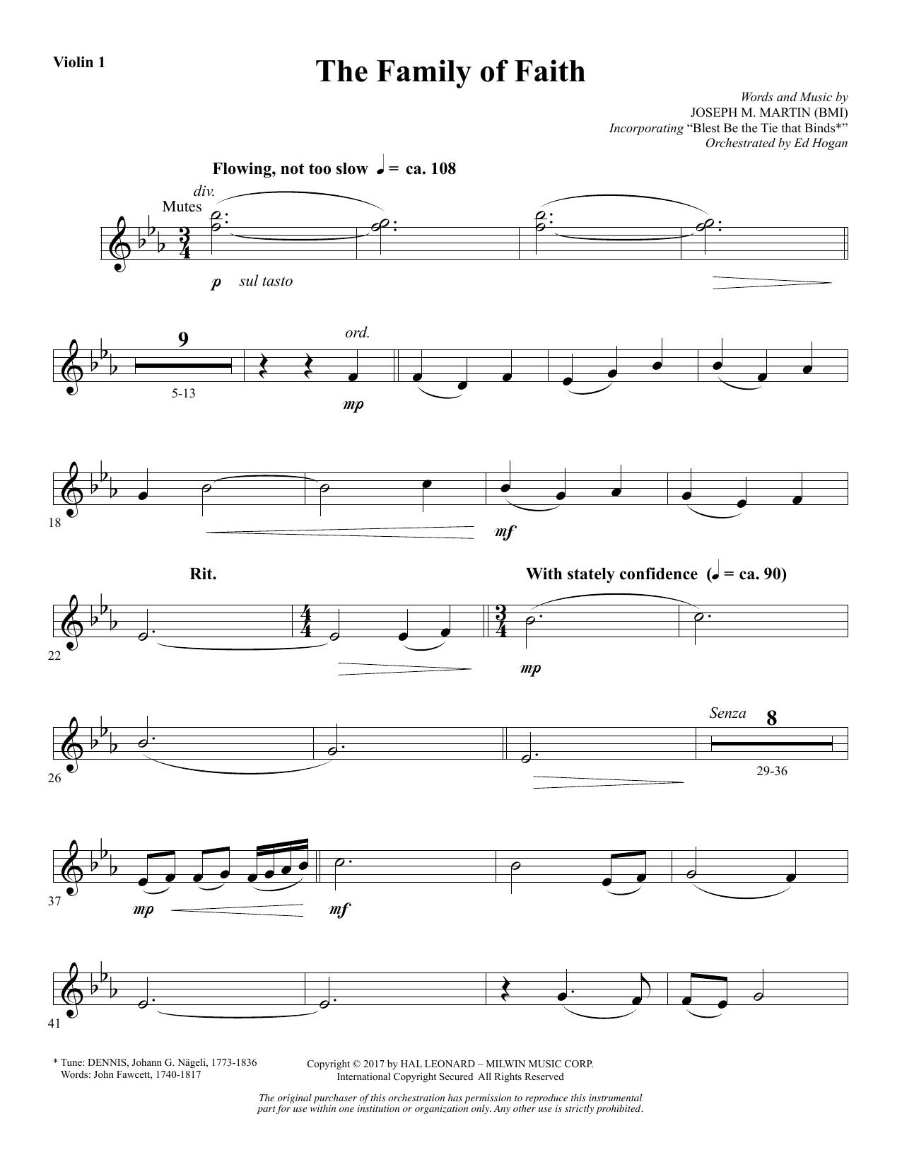 The Family of Faith - Violin 1 (Choir Instrumental Pak)