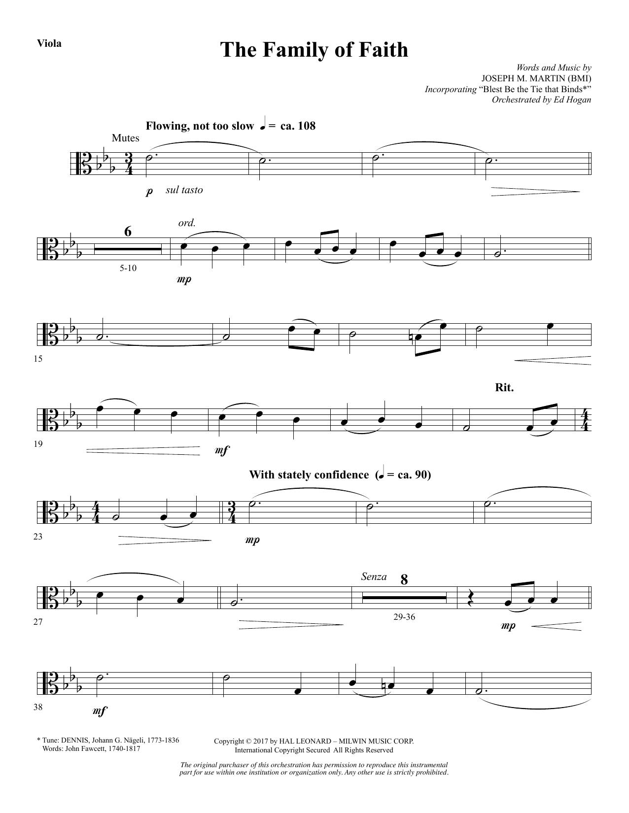The Family of Faith - Viola (Choir Instrumental Pak)