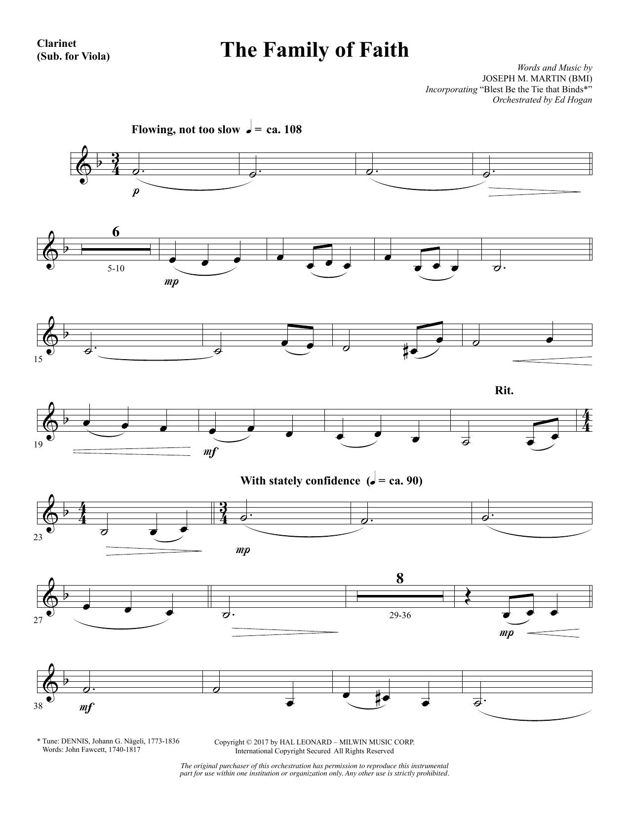 The Family of Faith - Clarinet (sub Viola) (Choir Instrumental Pak)