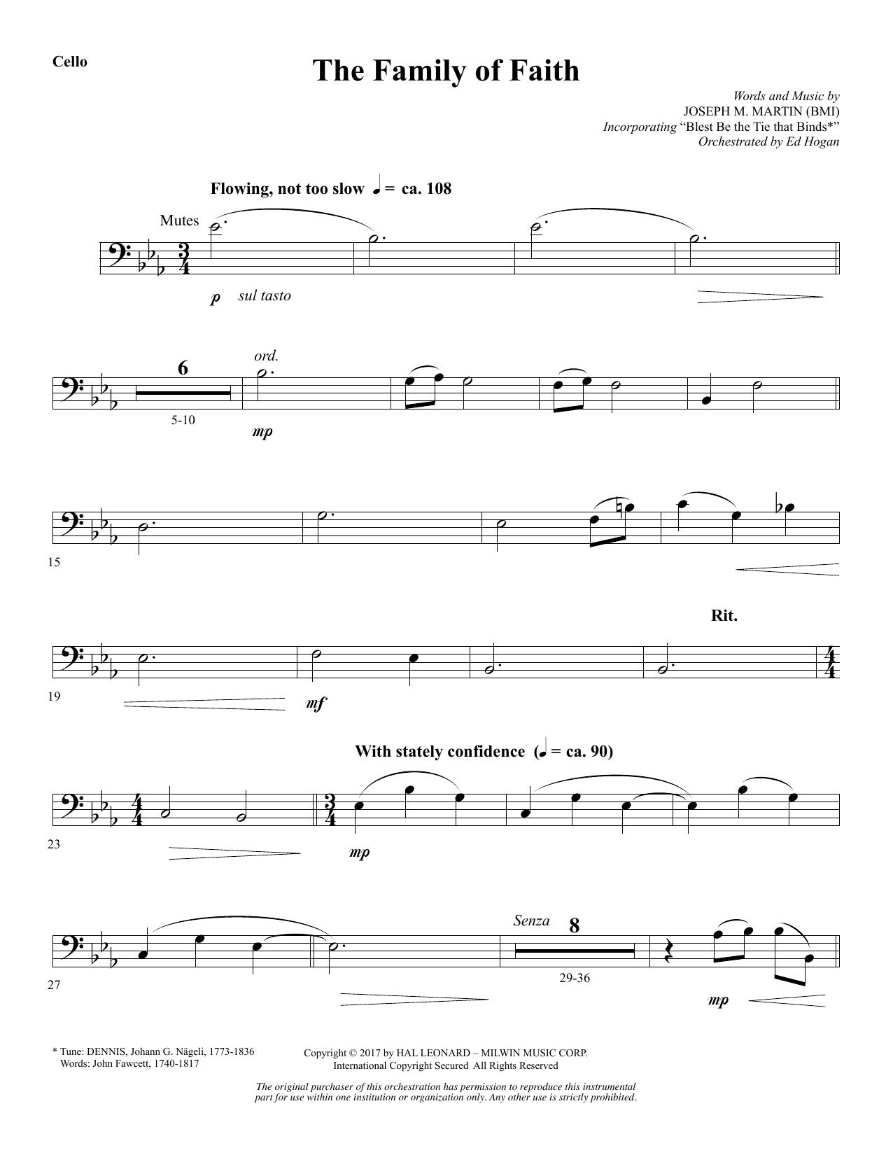 The Family of Faith - Cello (Choir Instrumental Pak)