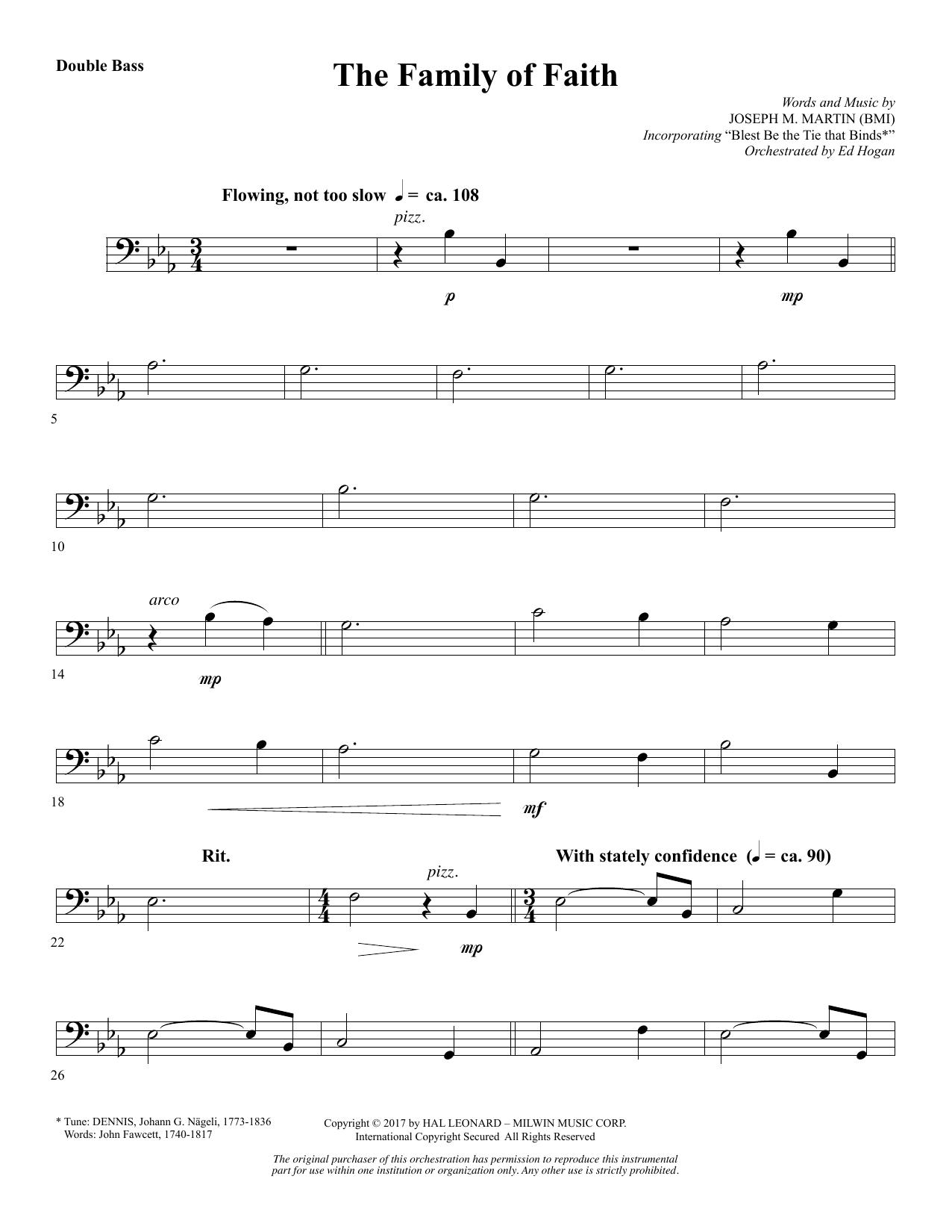 The Family of Faith - Double Bass (Choir Instrumental Pak)