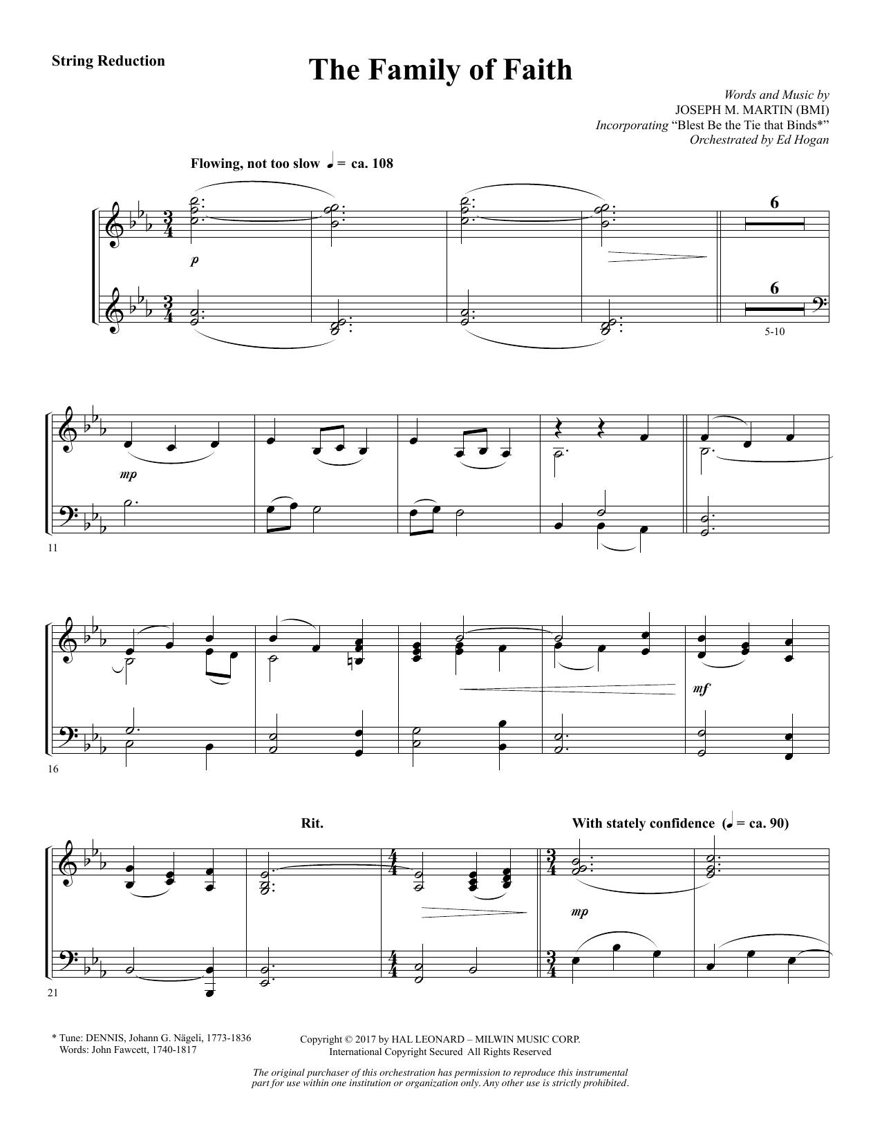 The Family of Faith - Keyboard String Reduction (Choir Instrumental Pak)