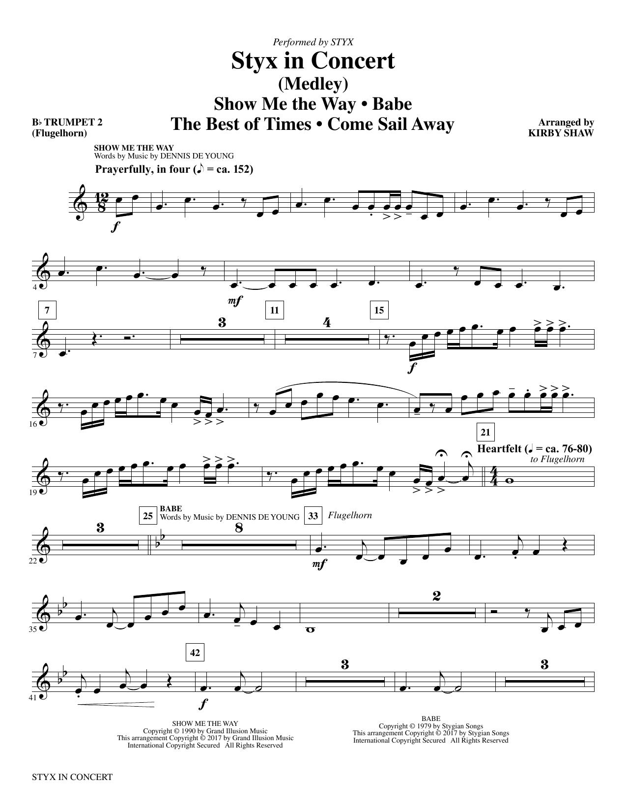 Styx in Concert - Bb Trumpet 2 (Choir Instrumental Pak)