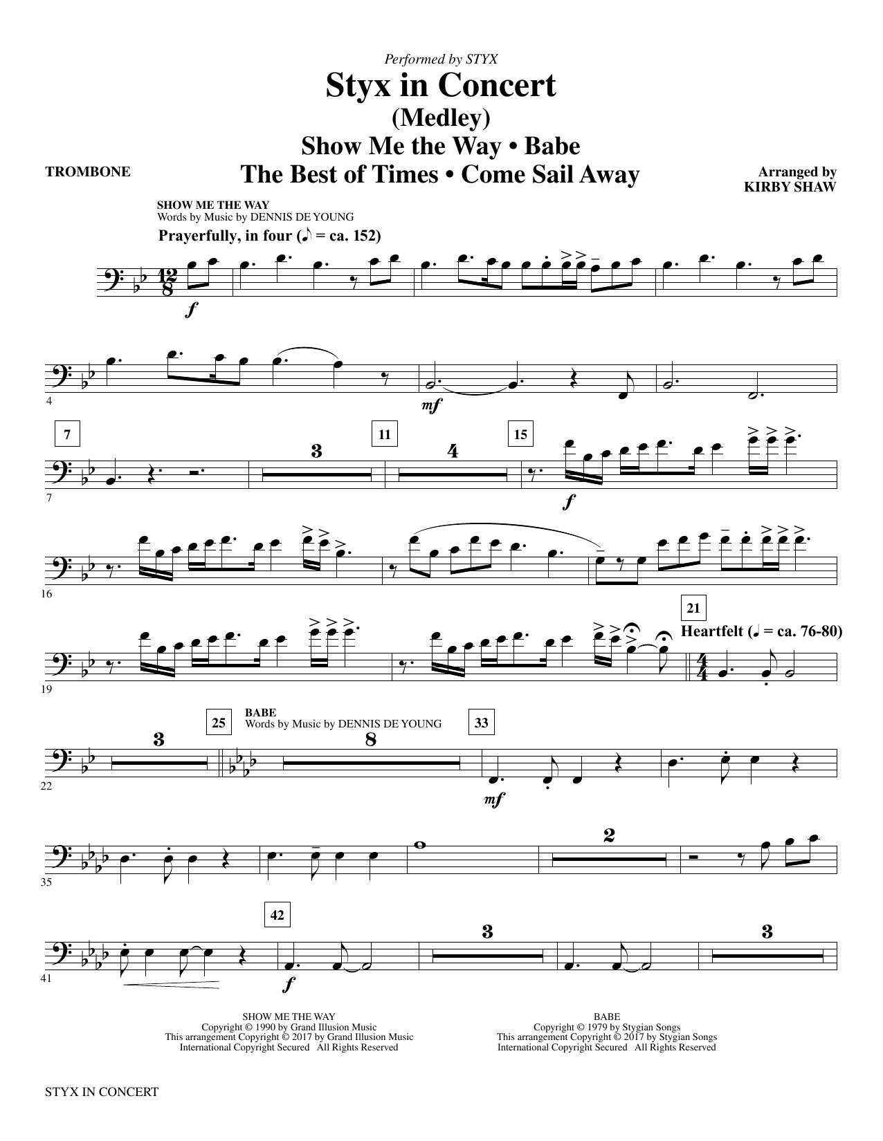 Styx in Concert - Trombone (Choir Instrumental Pak)