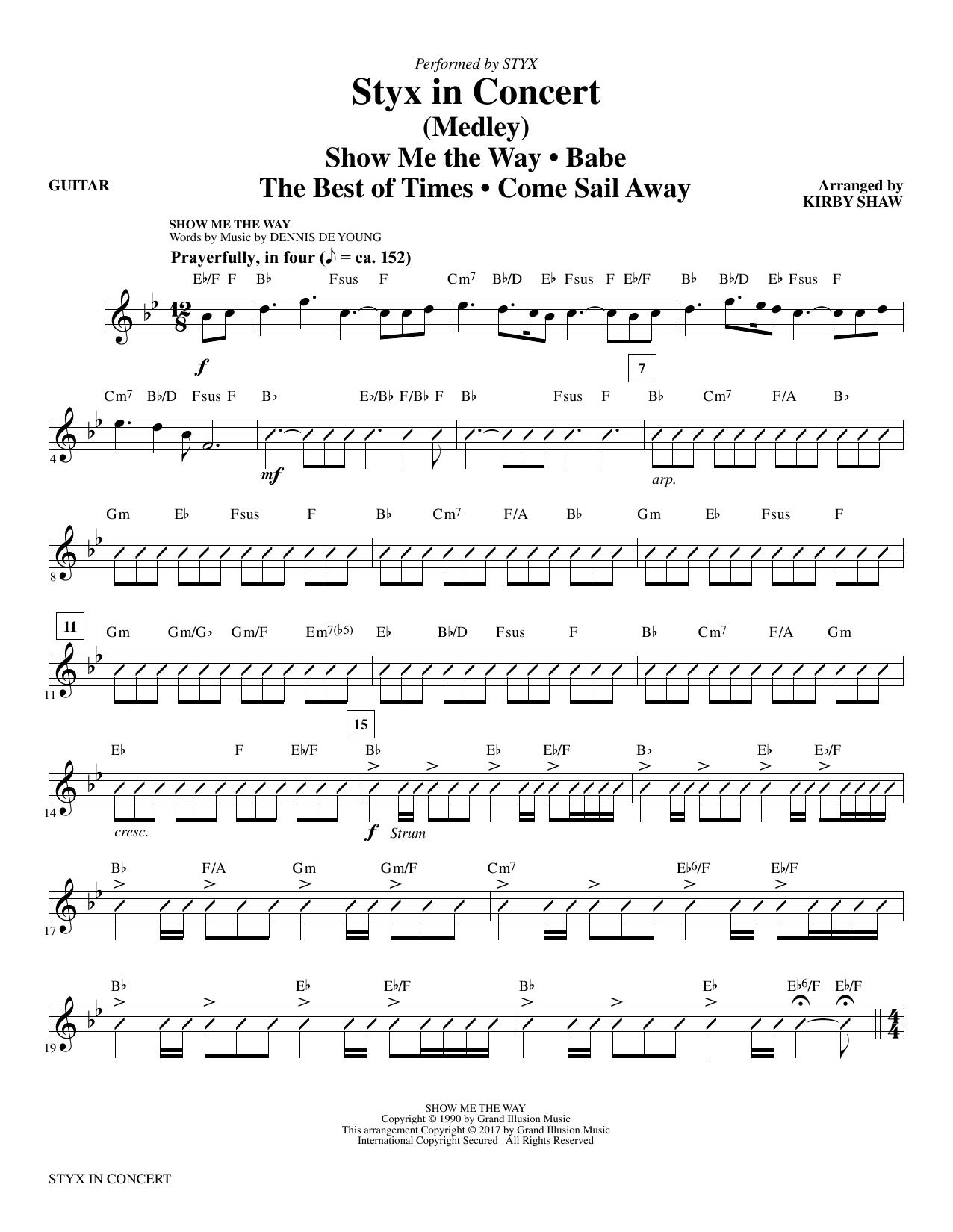 Styx in Concert - Guitar (Choir Instrumental Pak)