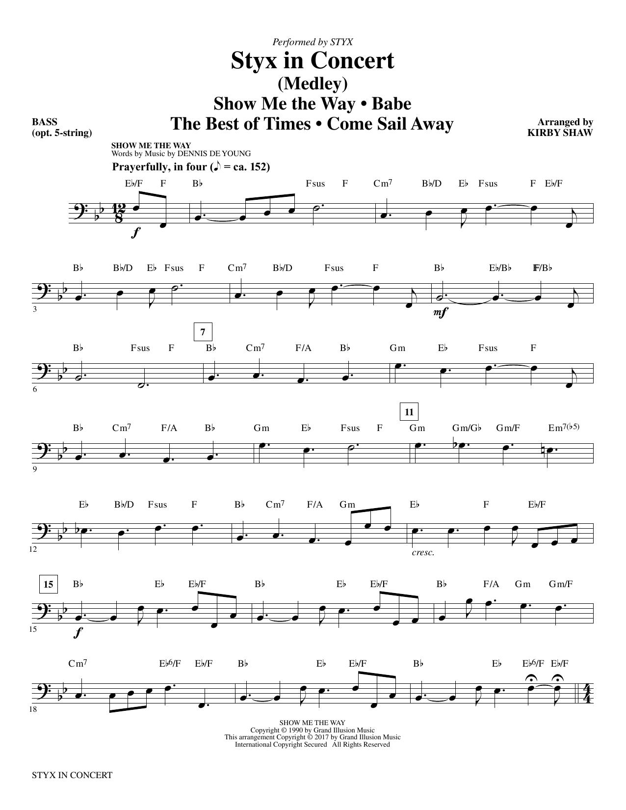 Styx in Concert - Bass (Choir Instrumental Pak)