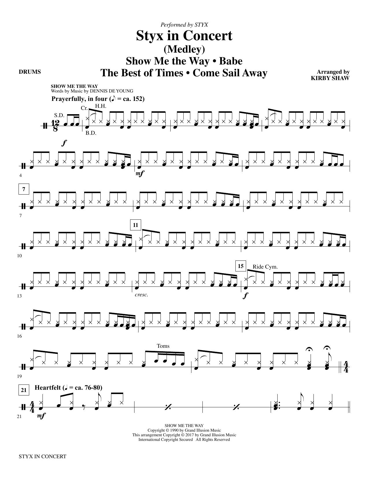 Styx in Concert - Drums (Choir Instrumental Pak)