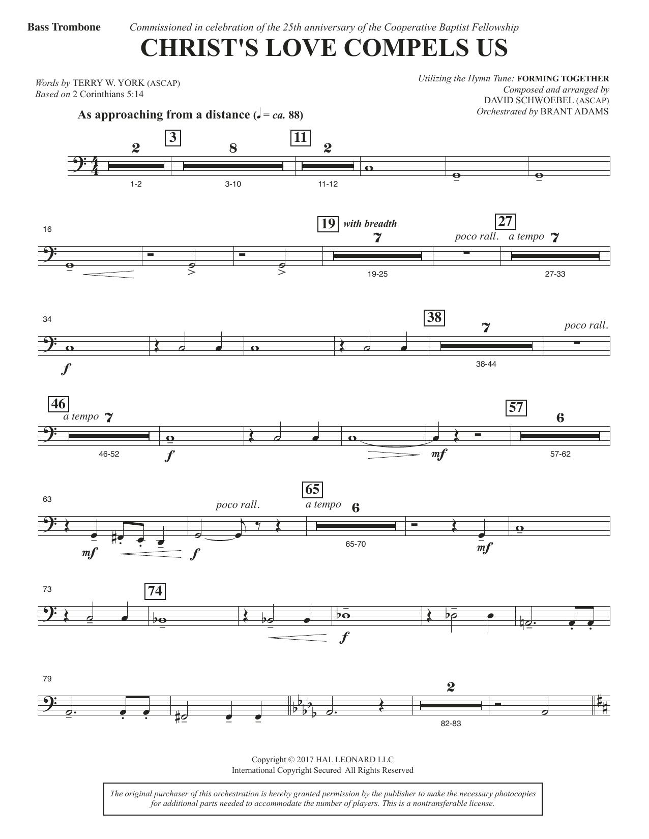 Christ's Love Compels Us - Bass Trombone (Choir Instrumental Pak)
