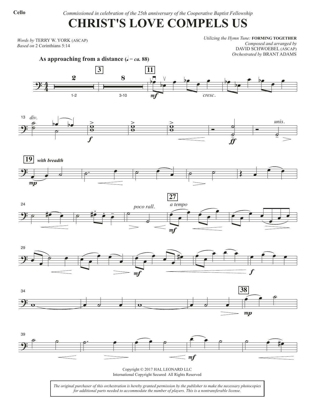 Christ's Love Compels Us - Cello (Choir Instrumental Pak)