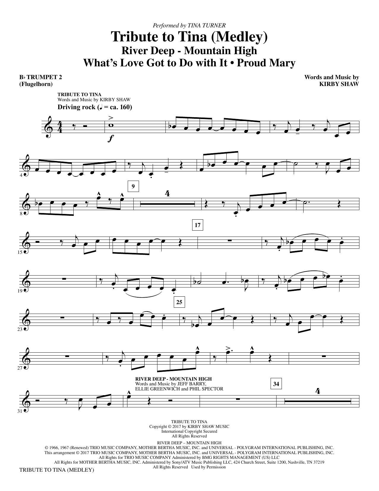 Tribute to Tina - Bb Trumpet 2 (Choir Instrumental Pak)