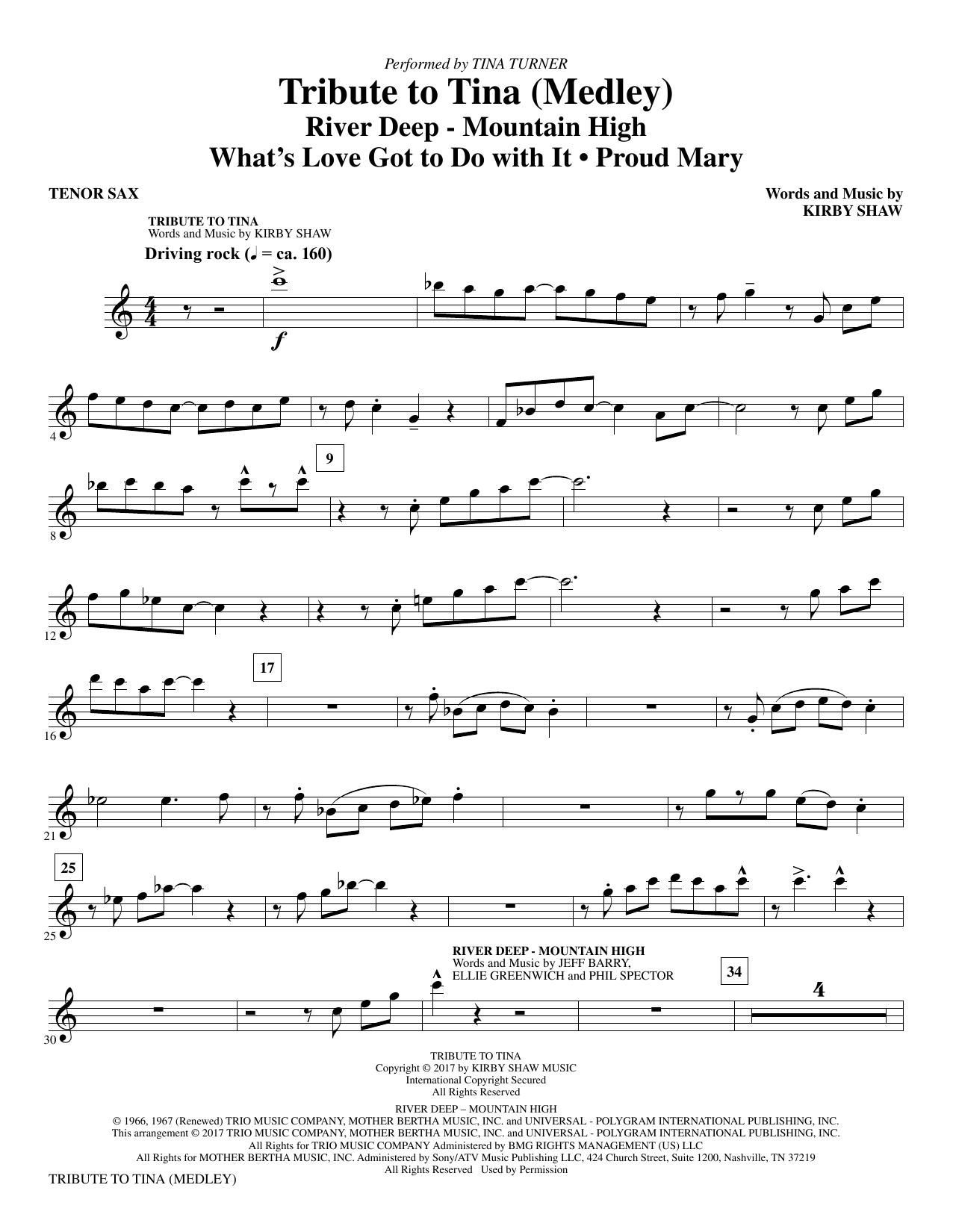 Tribute to Tina - Bb Tenor Saxophone (Choir Instrumental Pak)