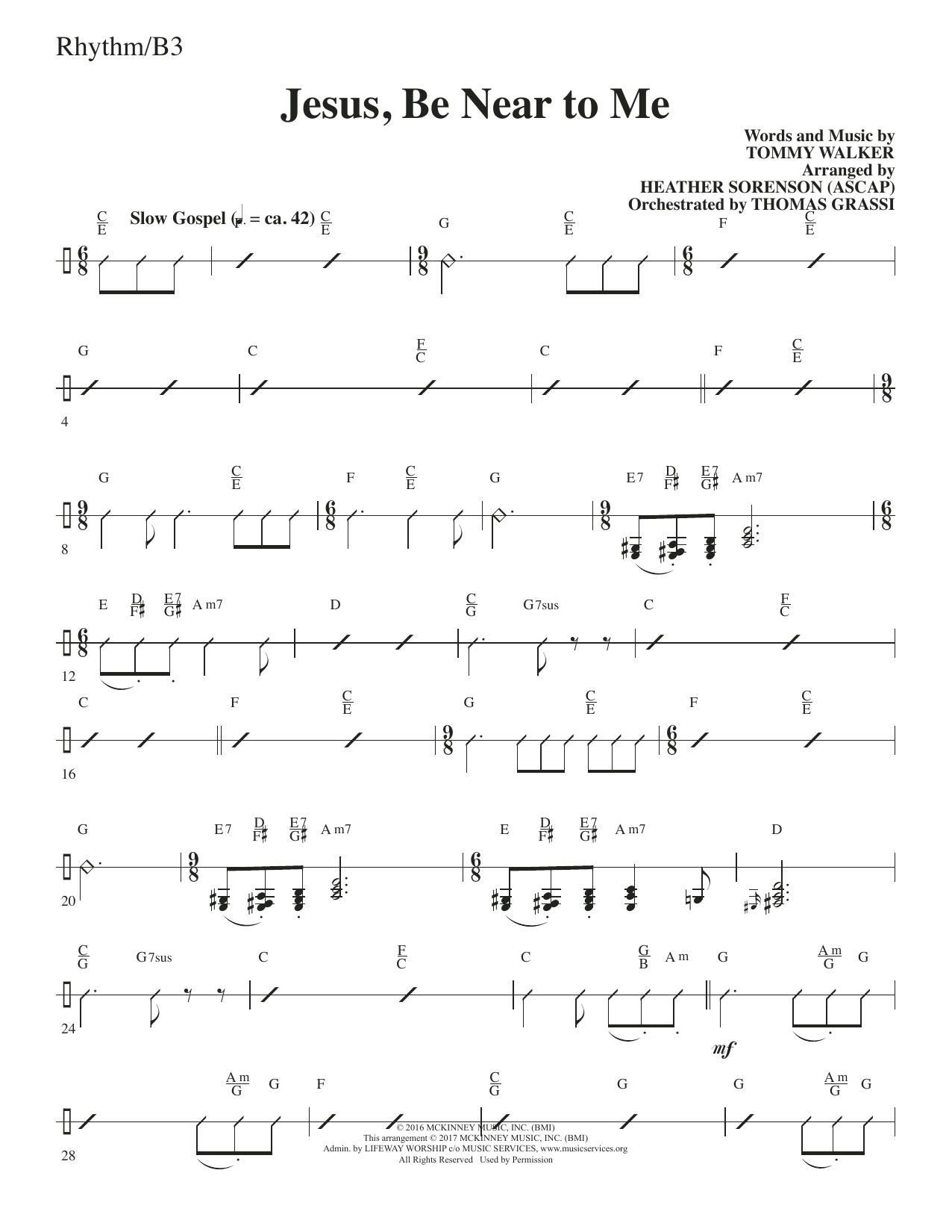 Jesus, Be Near to Me - Rhythm (Choir Instrumental Pak)