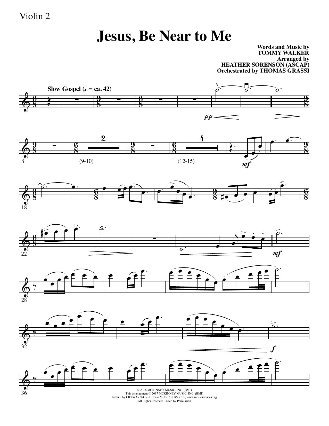 Jesus, Be Near to Me - Violin 2 (Choir Instrumental Pak)