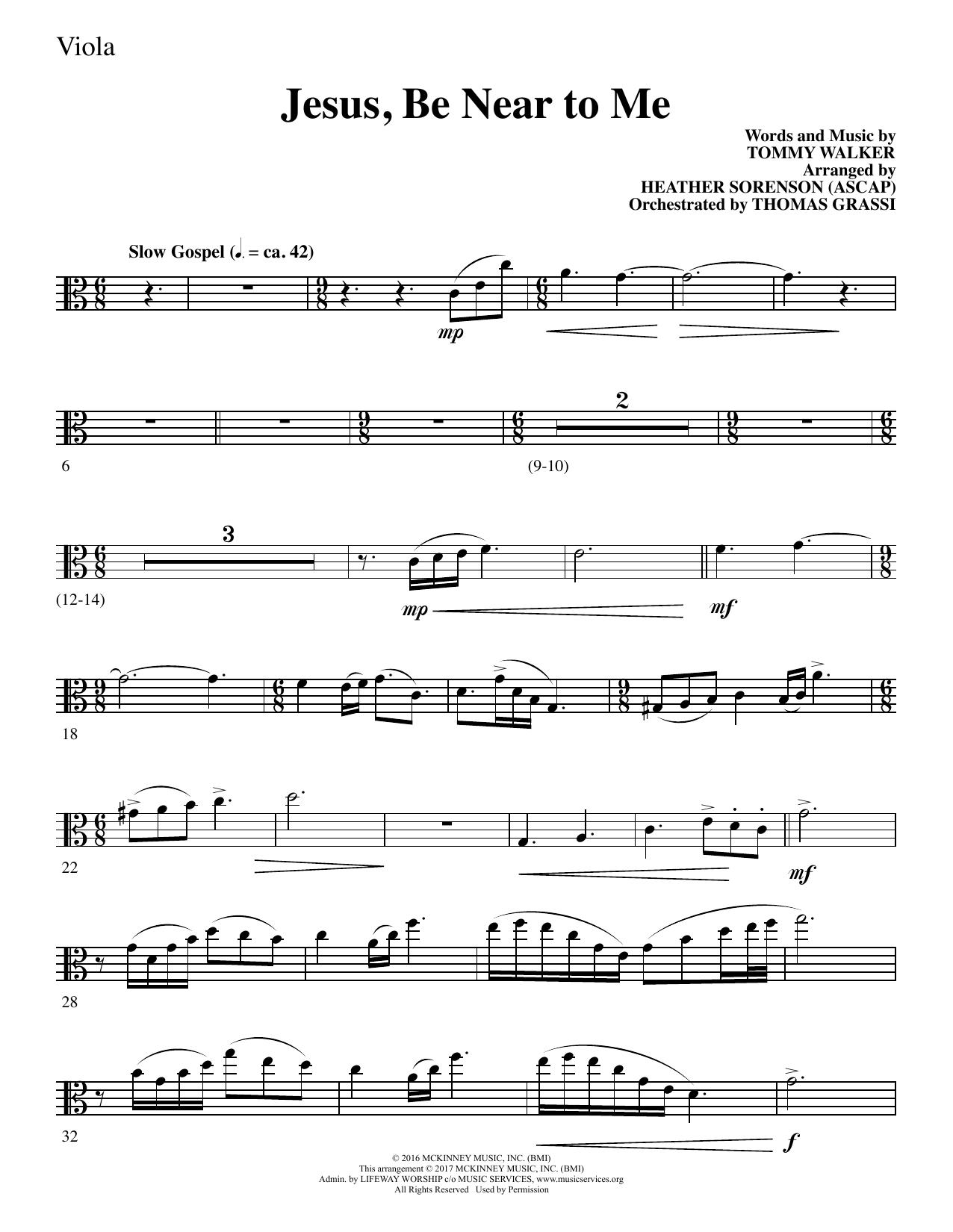 Jesus, Be Near to Me - Viola (Choir Instrumental Pak)