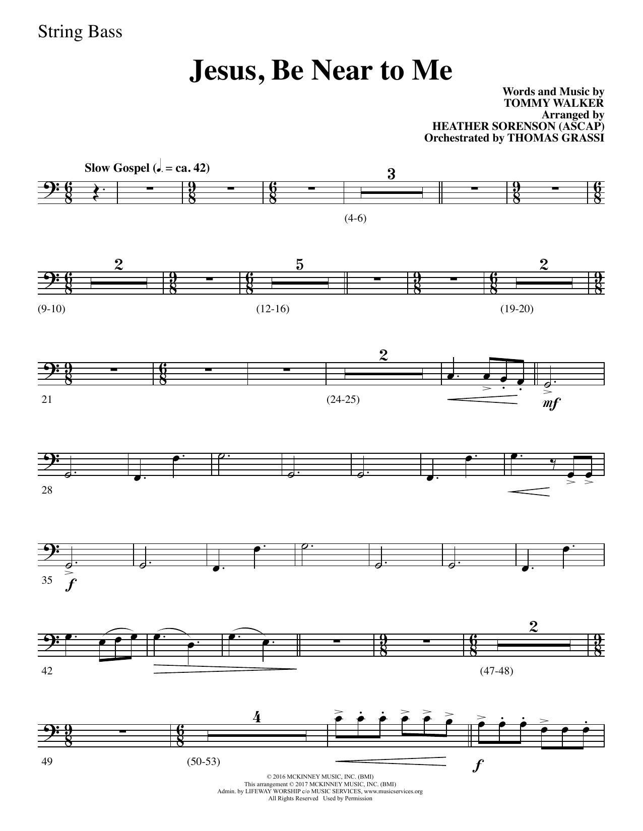 Jesus, Be Near to Me - String Bass (Choir Instrumental Pak)