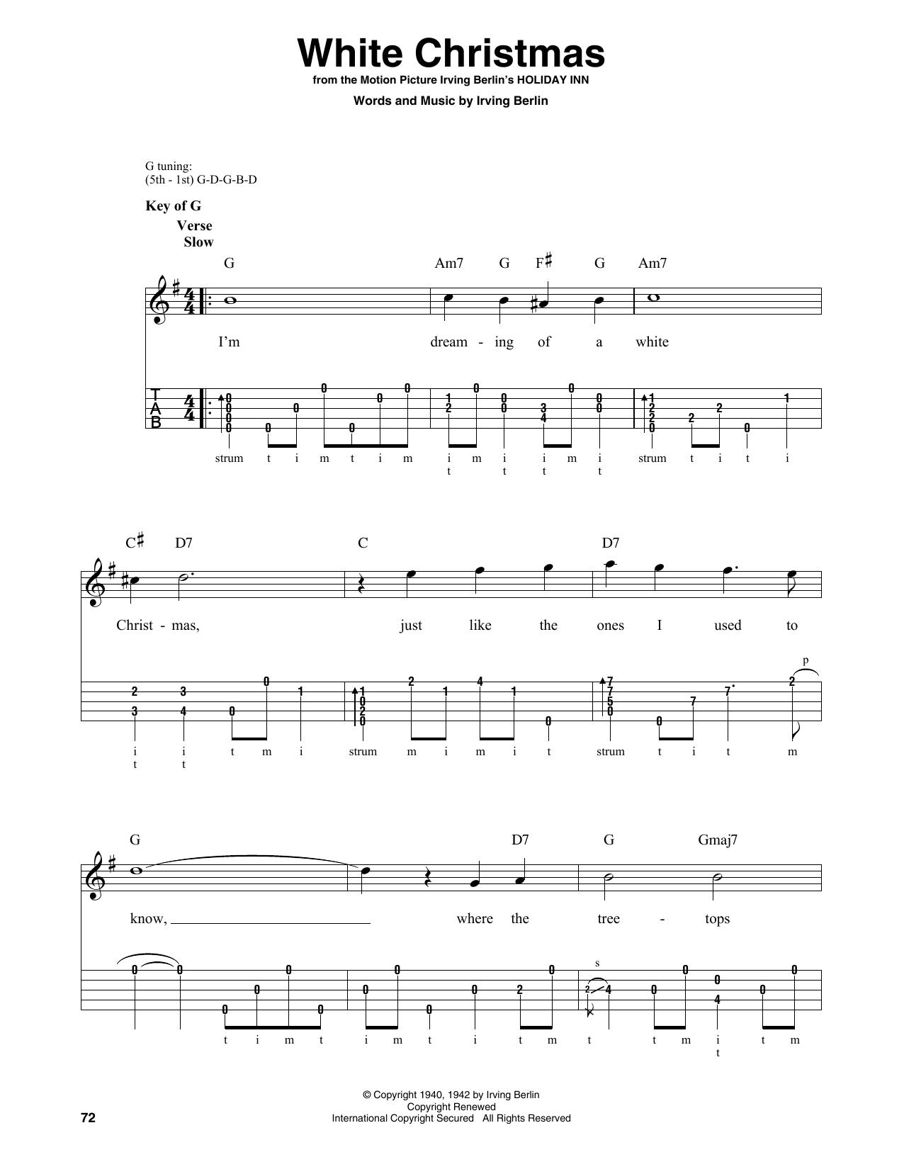 White Christmas (Banjo Tab)