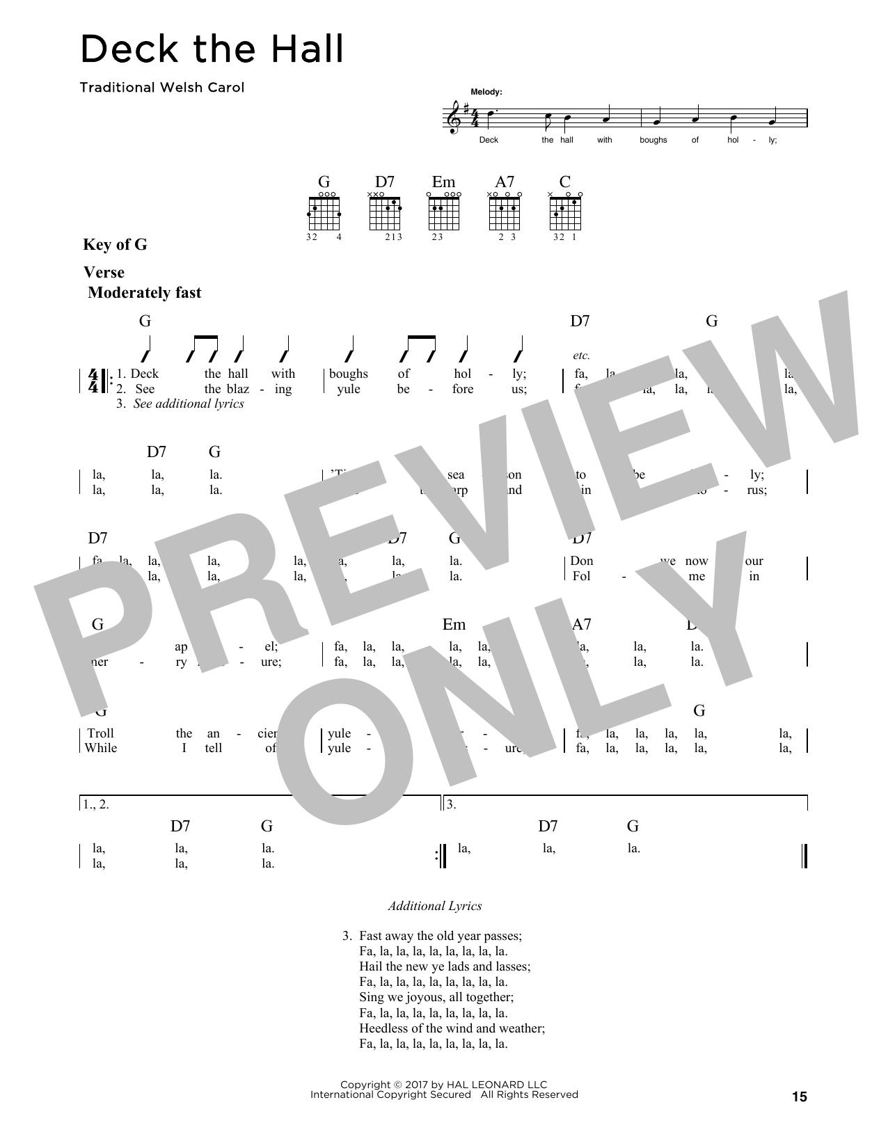 Deck The Hall (Guitar Lead Sheet)