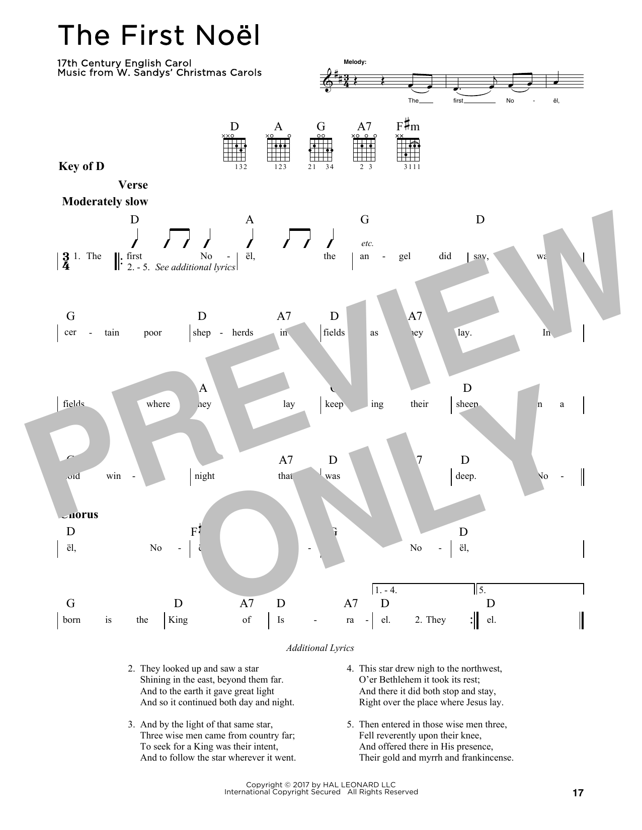The First Noel (Guitar Lead Sheet)
